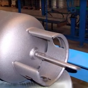 LPG Cylinder Metal Spraying
