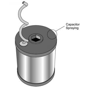 Capacitor Ends Metallisation