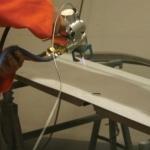 Flamesprayed Zinc Onto Body Panels